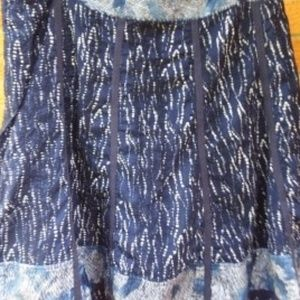 Coldwater Creek Embroidered Gorded Skirt Size14-16